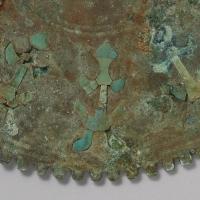 緑松石象嵌鋸歯縁鏡-2