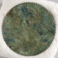 緑松石象嵌鋸歯縁鏡-3