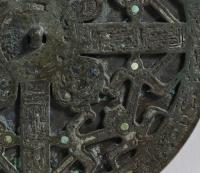 緑松石象嵌透彫鏡-2
