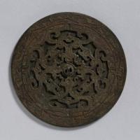 対鳳紋透彫鏡-1