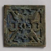 四獣紋透彫方鏡-1