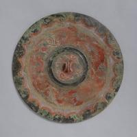 彩絵雲気紋鏡-1