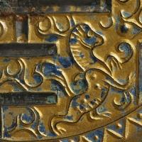 鍍金方格規矩獣紋鏡-2