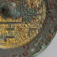 鍍金方格規矩獣紋鏡-3