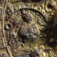 鍍金同向式神獣鏡-3