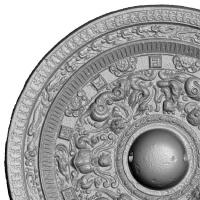 鍍金対置式神獣鏡-6