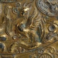鍍金対置式神獣鏡-4
