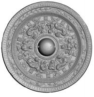 鍍金対置式神獣鏡-5