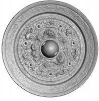 浮彫式獣帯鏡-2