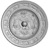 四神十二支紋鏡-3
