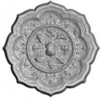 貼銀鍍金海獣葡萄紋八稜鏡-4