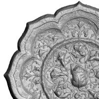 貼銀鍍金海獣葡萄紋八稜鏡-5