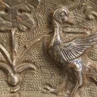 貼銀鍍金海獣葡萄紋八稜鏡-3