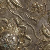 貼銀鍍金対鳥衛綬蓮華紋八稜鏡-2