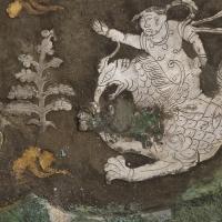 金銀平脱童子騎獣紋八花鏡-3