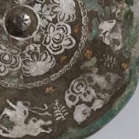 金銀平脱童子騎獣紋八花鏡-2