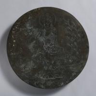 線刻水月観音鏡像-3